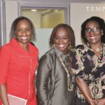 (L – R: Former Minister of Communication & Technology, Omobola Johnson, CEO, Eventful Nigeria Limited, Yewande Zaccheaus and CEO/Founder, Noji Art, Lara Cookey.)
