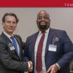 (L-R: Mattias Hedwall, Partner and Global Chair, International Commercial & Trade, Baker McKenzie in a handshake with Olumide Akpata, Senior Partner, Templars)